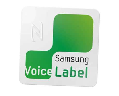 Samsung's NFC voice label