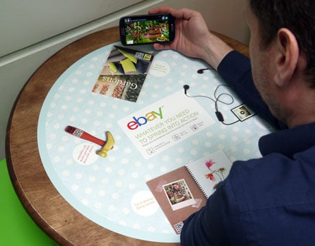 eBay's table top NFC ads