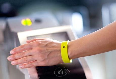 Mobispot's NFC wristband