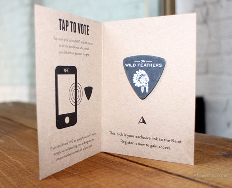 An NFC-enabled guitar pick