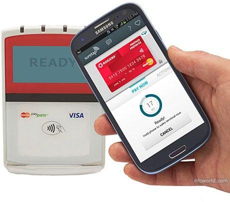Smartphone with Rogers Suretap wallet