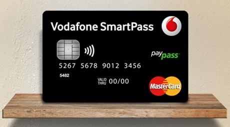 Vodafone SmartPass contactless card