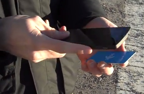 Updating the all-in-one Fidesmo transport card using an NFC-enabled mobile phone