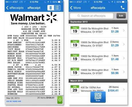 Walmart digital receipt