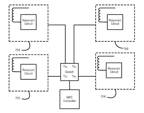 Broadcom multiple NFC antennas