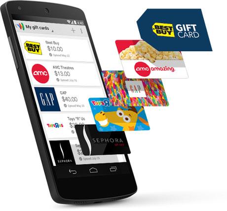 Google Wallet gift cards