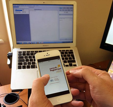 Consult Hyperion demos EMV mobile payments over BLE on an iPhone