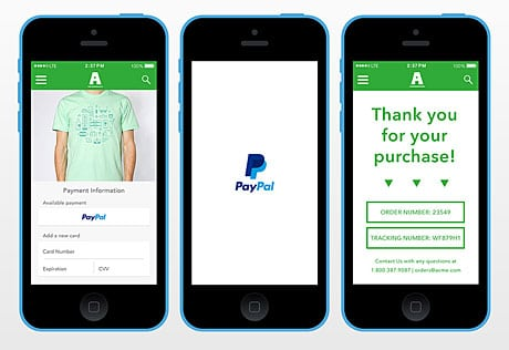 PayPal introduces one touch mobile payments • NFC World