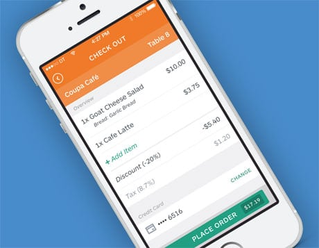 Coupa Cafe customers can order and pay via BLE and an app
