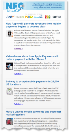 NFC World weekly email newsletter
