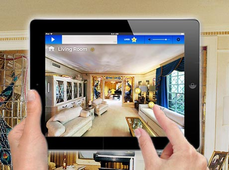 "Elvis fans can see ""room-specific content"" as they tour the King's mansion with a borrowed iPad"
