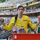 "A beacon-equipped ""pie boy"" at MCG"