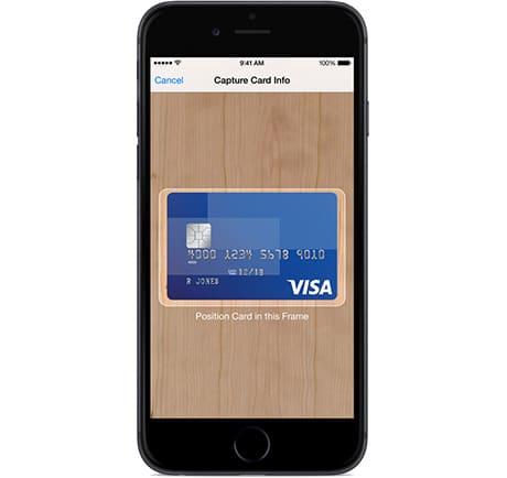 Apple Pay credit card enrolment