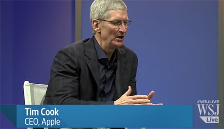Apple CEO Tim Cook at WSJDLive 2014