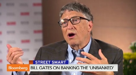 Bill Gates was interviewed by Bloomberg TV