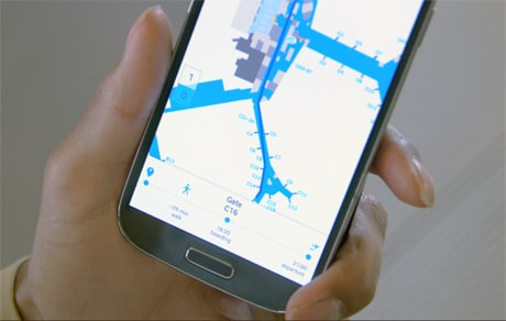 Bluetooth beacons steer passengers to their gate at Schiphol Airport