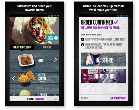 Taco Bell mobile ordering