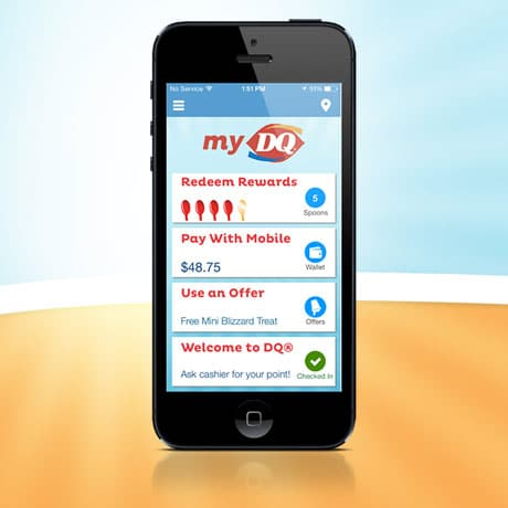 Dairy Queen's MyDQ app
