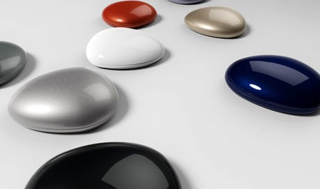 SK Telecom's iBeacon-compatible Wizturn Pebble beacons have a one-year battery life and a range of up to 70 metres