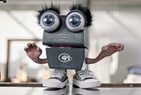 Softcard's Tappy puppet