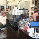 A Bitstraat Bitcoin POS terminal installed in an Amsterdam barber's shop