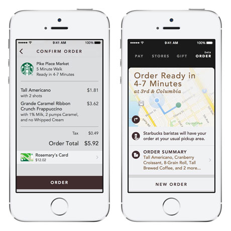 Starbucks' Mobile Order & pay app