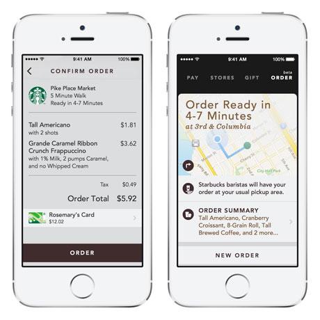 Starbucks' Mobile Order & pay app