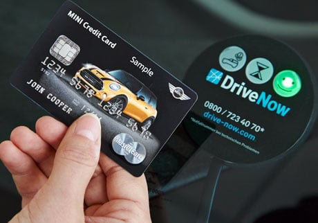 BMW Mastercard Drive Now NFC contactless card