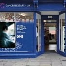 Cancer Research UK contactless donation window display