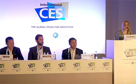 NFC World+ editor Sarah Clark was joined by executives from MasterCard, LoopPay and Coinbase