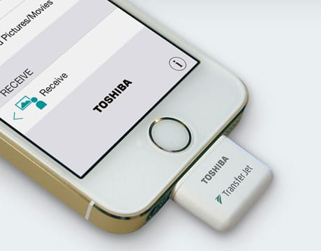 Toshiba's TransferJet add-on for iOS devices