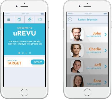 uRevu customer service rating app