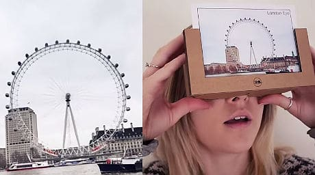 Knit Cardboard Objects for Google Cardboard headset