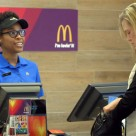"McDonalds staff will randomly select customers to perform a ""lovin' act"" to pay for their meal"