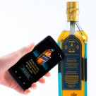 Diageo Johnnie Walker Blue Label whisky bottle with Thinfilm OpenSense NFC tag