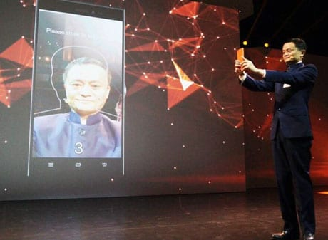 Jack Ma shows off Alibaba's prototype face biometric payment system