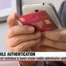 Accessing mobile banking with NFC authentication