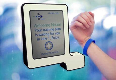 Ledswim NFC swimming training wristband