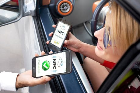 NXP concept car design by Rinspeed features NFC and UHF RFID tags