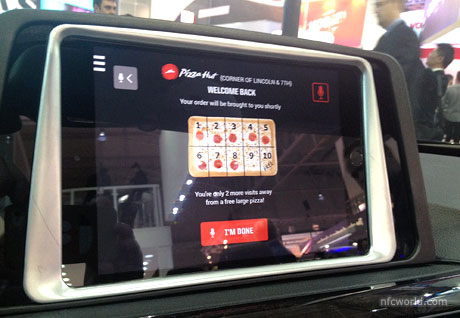 Pizza Hut connected car