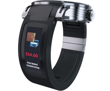 NFC mobile payment made with Kairos smartwatch