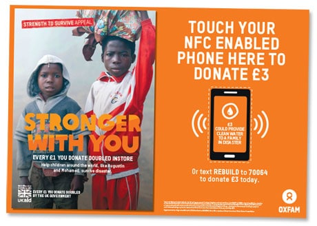 Oxfam NFC poster