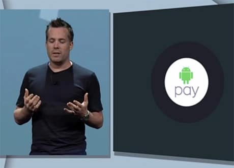 Google's Dave Burke announces the new NFC payment system
