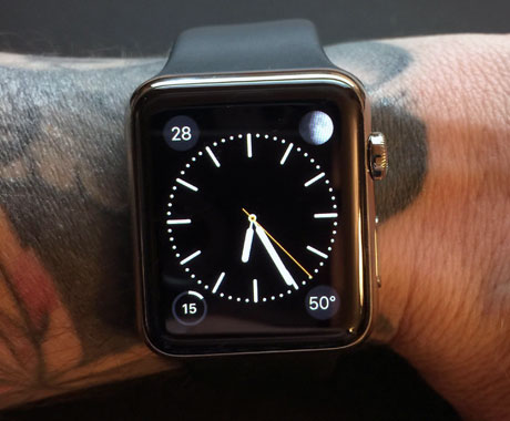 Apple Watch encounter problems with wrist tattoos. Pic: guinne55fan