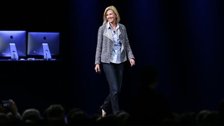 Jennifer Bailey, vice president of Apple Pay, takes the stage at WWDC
