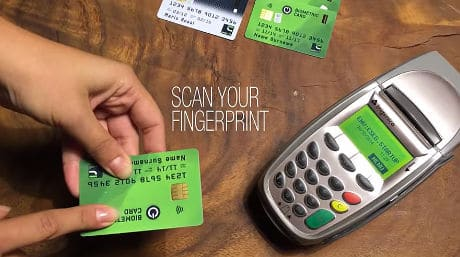 Idex biometric smart payment card