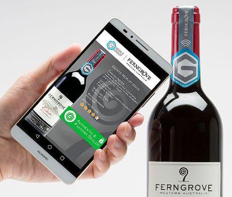 Ferngrove smart wine bottle