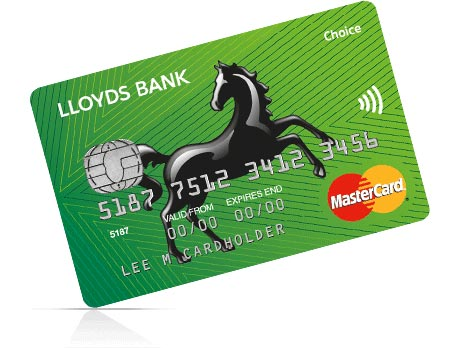A Lloyds Bank issued contactless payment card
