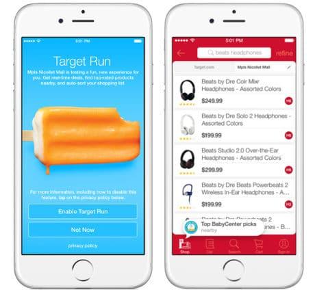 Target Run app