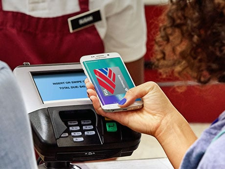Samsung Pay in action at an contactless POS terminal